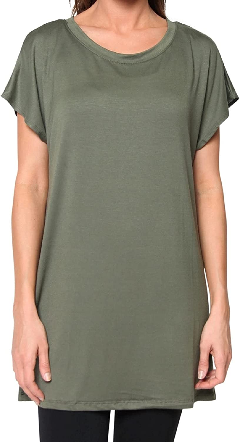 Free to Live Women's Tunic Top in Flowy Loose Fit with Kimono Sleeves