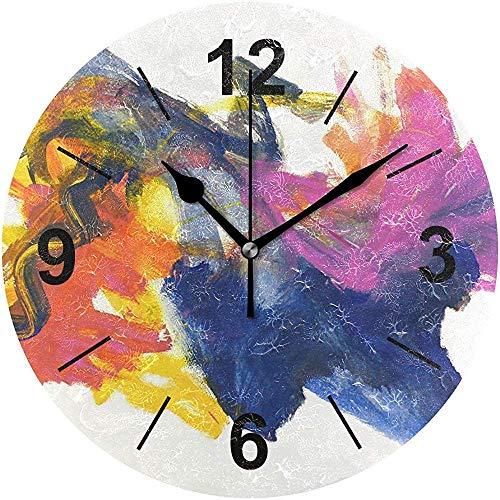 L.Fenn wandklok ronde originele party abstracte kleur openbare diameter Silent Decoratief voor home kantoor keuken slaapkamer