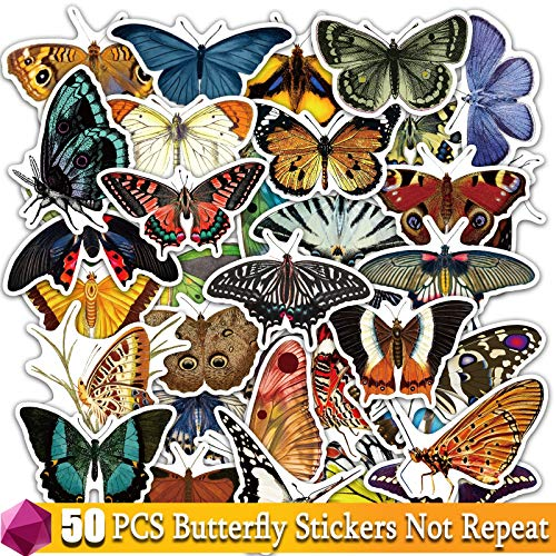 Butterfly Stickers For Laptop Water Bottle Skateboard Car Bicycle Luggage Waterproof Cute Mix Amine Sticker Decal Pack Toys