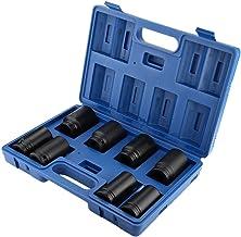 SANON 8 szt. 3/4 cala 24 – 38 mm, zestaw kluczy nasadowych, adapter napędowy, klucz płaski, konwerter, reduktor elektryczn...