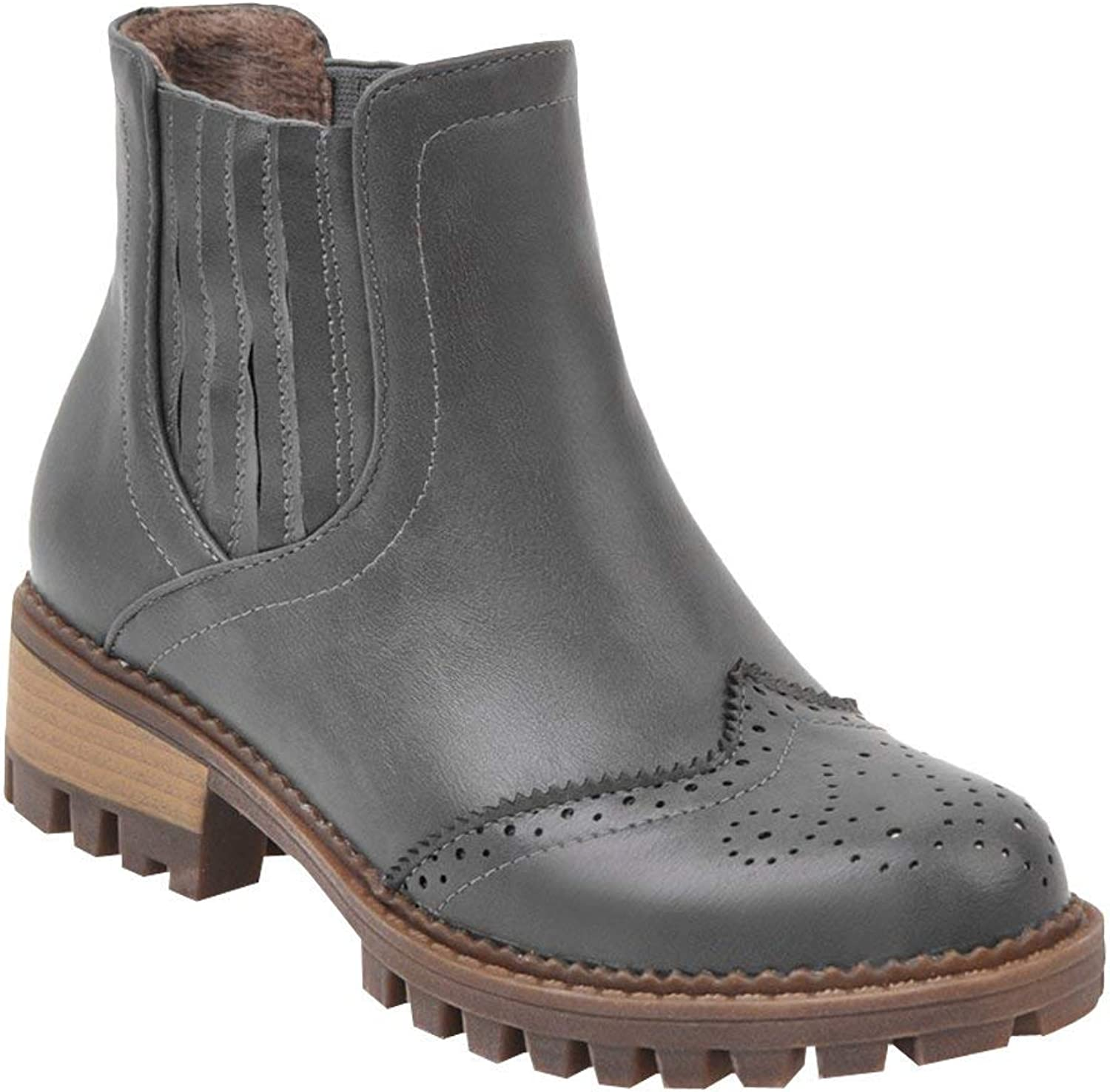 ZX Boots Women's Chunky Heel Chelsea Boots