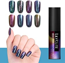 LILYCUTE Chameleon Gel Polish Magic Glitter Sequins Nail Art UV Gel Soak Off Manicure Varnish Black Base Needed 5ml 8 Colors