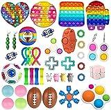 Bprtcra 41 PCS Fidget Toys Pack, Sensory Toys for Soulager Le Stress et lanxiété, Fidget Box Bubble Toys, Anti Stress Toys pour Enfants, Adultes, Couples Cadeau,Type M