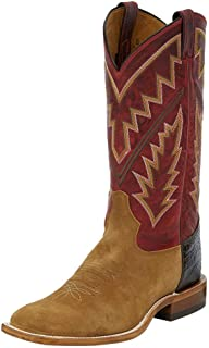 Tony Lama Boot Company Mens Suede Roughout 13 Red Pampa Top Cowboy Boots 10 D Tan