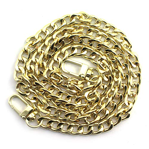 JCBIZ 100mm Gold Metal Strap Chain Should Strap with Clasp for Bags Purses Wallet Hardware Accessories