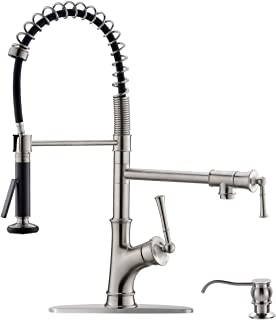 APPASO Commercial Kitchen Faucet Pull Down Sprayer and Pot ...