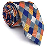 xtra long neck ties - SHLAX&WING Multicolor Checks Necktie Wedding Ties for Men Extra Long 63 inches