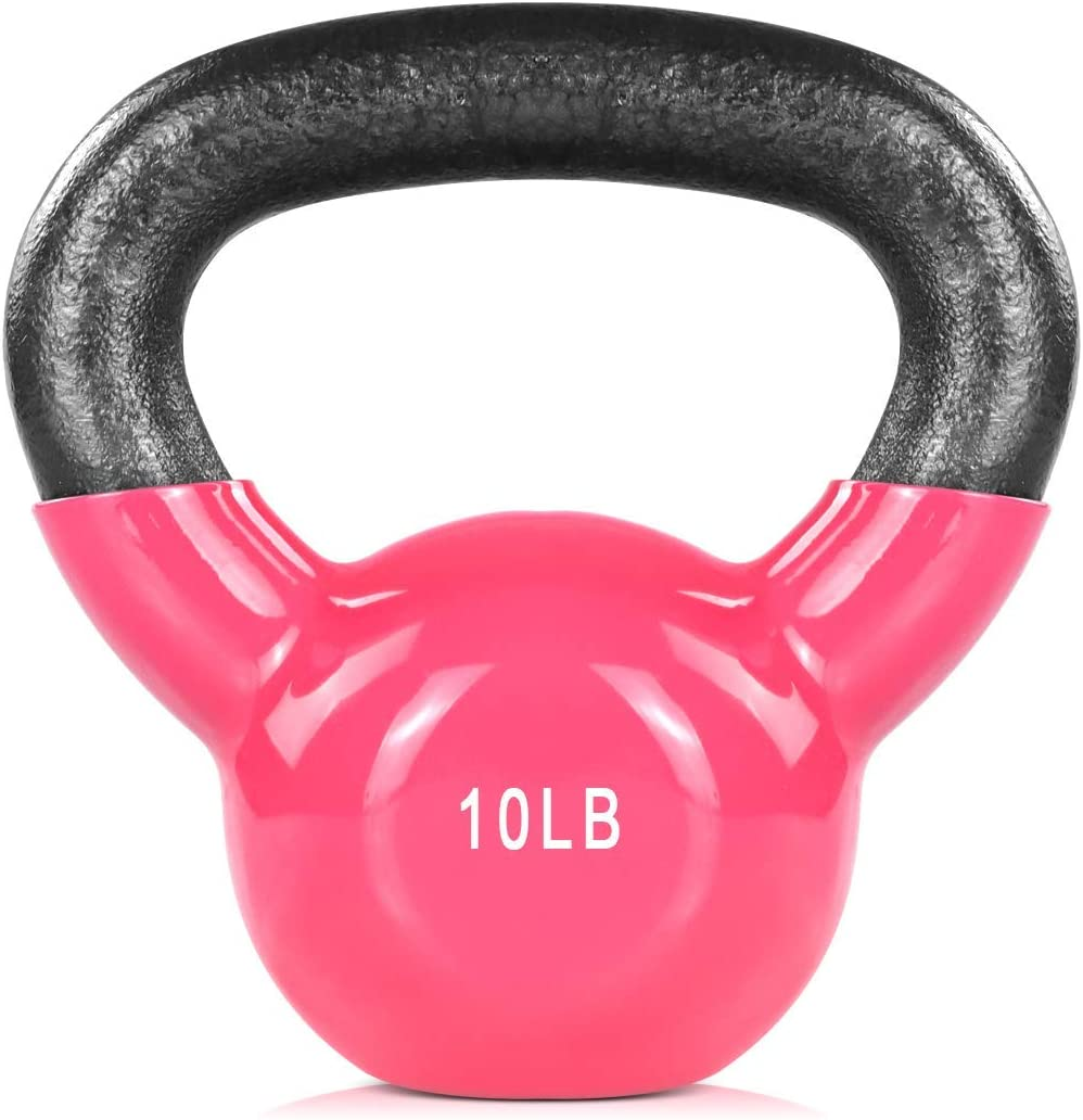 ZHERMAO Kettlebell Weights Vinyl Coated Cast Solid Bell Kettle In a Branded goods popularity
