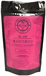 Orgainc Loose Leaf Rooibos Elderberry Blueberry Tea Caffeine Free South African RED TEA 8 oz