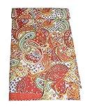 Tribal Asian Textiles Baumwoll-Kantha-Tagesdecke, Überwurf, indische Queen-Size-Größe, Patchwork-Design, Vintage