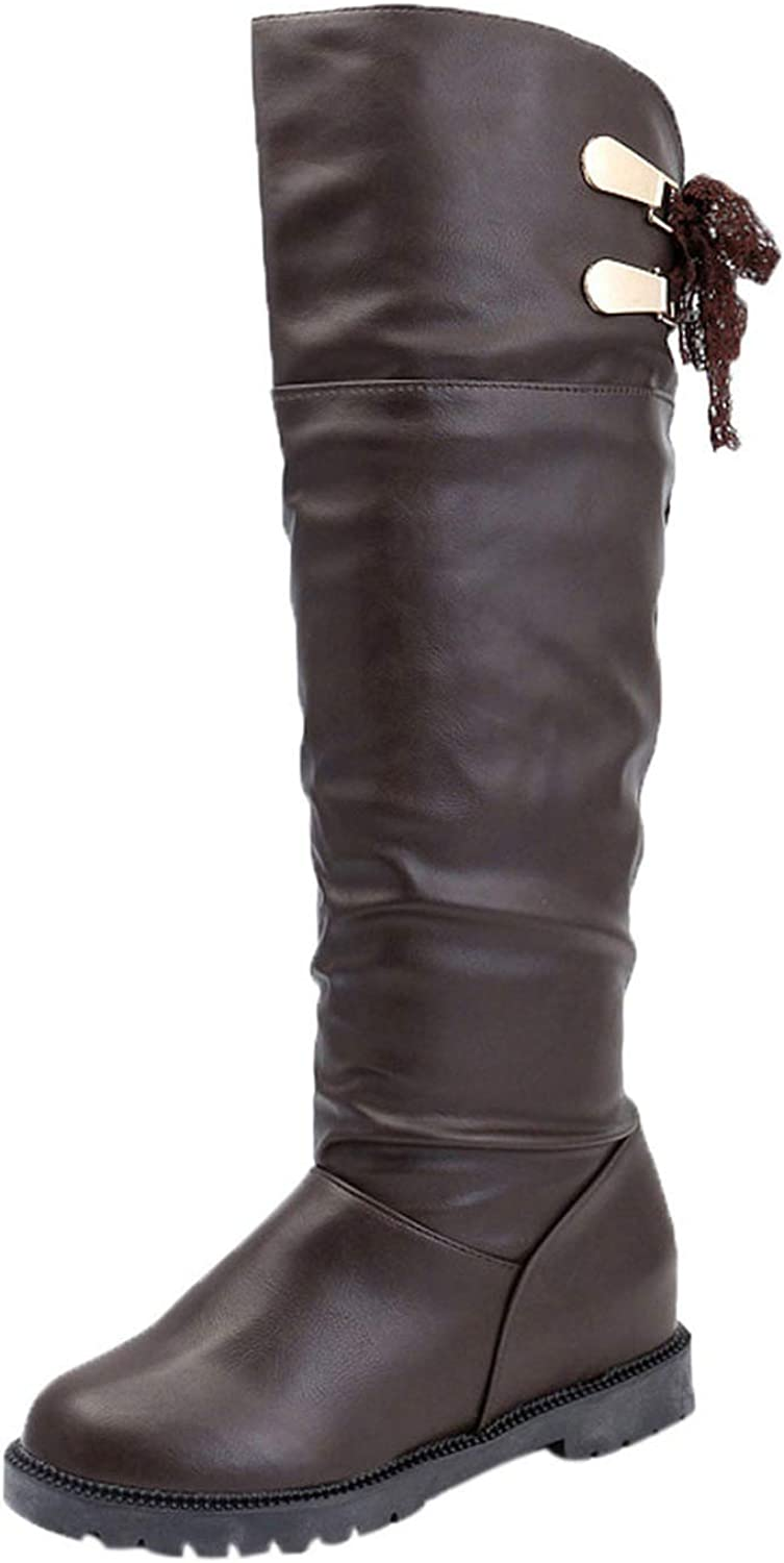 Meet- fashion Knee High Boots Women Soft Leather Knee Boots Comfortable Women Long Boots shoes women estive