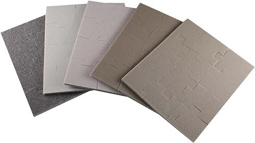 Set of 5 jigsaw type sponge abrasive (japan import)