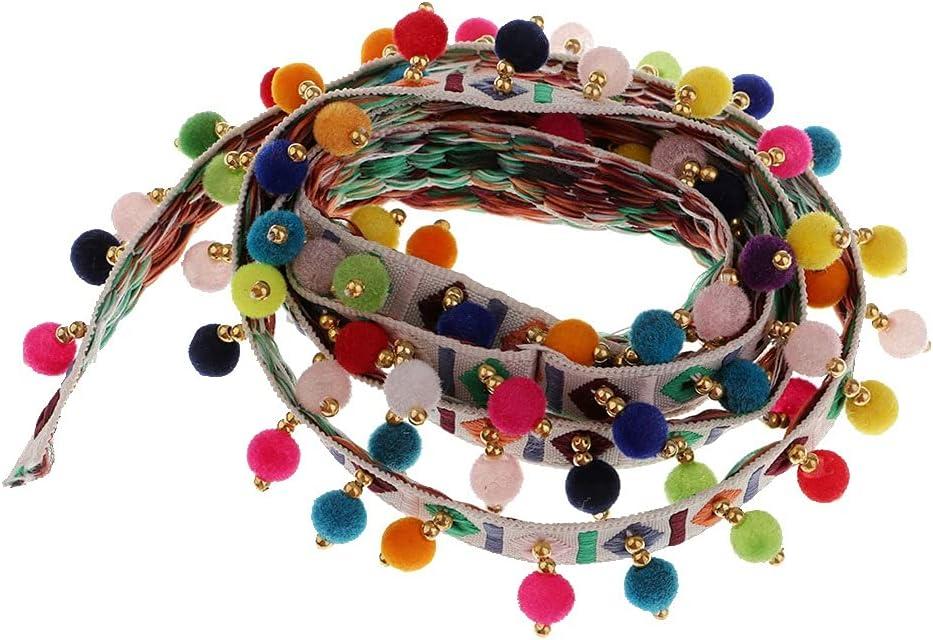 UXZDX Ethnic Style Pom Denver Popular products Mall Beads Fringe Ri Jacquard Tassel Braid