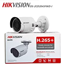 Hikvision 4MP Outdoor Bullet PoE IP Camera DS-2CD2045FWD-I 2.8mm Fixed Lens, 2688x1520, EXIR 98ft Night Vision, Smart H.265+ WDR, SD Card Slot, VCA, ONVIF, IP67