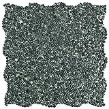 SomerTile Pebblini Seaweed Green PGYPMSG Caillou Mini Pebble Stone Mosaic Floor and Wall Tile, 12.25' x 12.25'