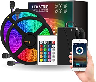 ANEAR LED Strip Lights, 32.8ft DIY RGB Colour Rope Light Strip Kit with Remote and Timing Off, Dream Colour for TV, Room, ...