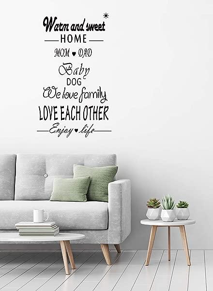 AMAZING WALL 55X100cm 21 7x39 4 Home Warm English Word Wall Sticker Living Room Bedroom Kids Room Nursery Decor Home Decorations Removeable 1PCS Set
