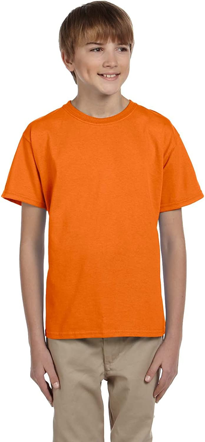 Product of Brand Gildan Youth Ultra Cotton 6 oz T-Shirt - Safety Orange - L - (Instant Savings of 5% & More)