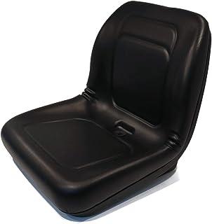 Lawn Mower, Garden Tractor UTV / ATV Seat Black High Back Vinyl Universal Mount B1LGT100BL