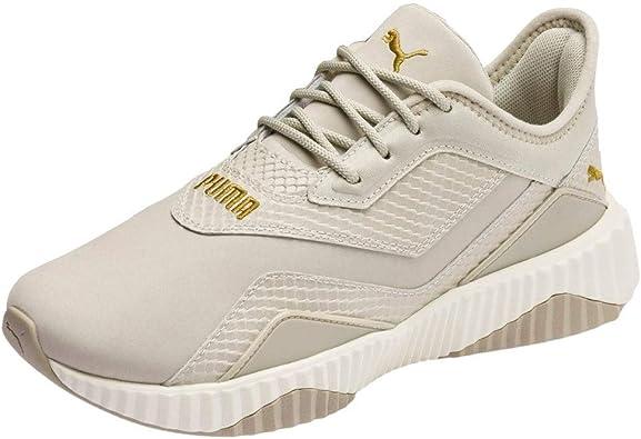 PUMA Womens Defy Stitched Croc Platform Sneakers Shoes Casual - Beige