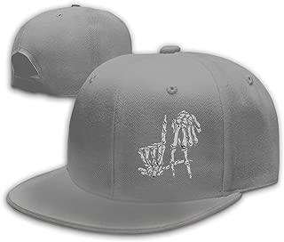 Cool Korn Finger Skull Snapback Novelty Baseball Cap for Men Black Unisex Dad Hat