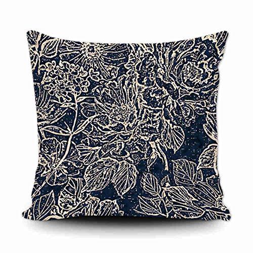 Bageyou, federa copricuscino decorativa per divano, motivo floreale, 45,5 x 45,8 cm, con stampa su entrambi i lati