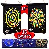 NOMNOM TOYS, Magnetic Dart Board for Kids, 15 pcs Magnetic...