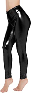 PINKPHOENIXFLY Womens Sexy Shiny Faux Leather Leggings Pants