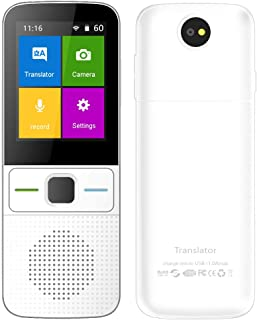 Language Translator Device Smart–JOYSAE Intelligent Two Way WiFi/Hotspot/Offline Instant 2.4 Inch Touch Screen Support 83 Languages Pocket Voice/Text/Recording/Photo Camera Translation Function Travel