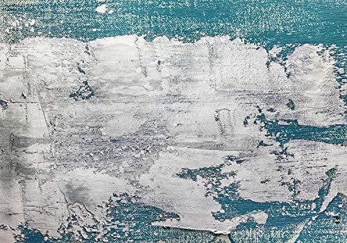 wandmotiv24 Fototapete Wand Türkis Vintage XL 350 x 245 cm - 7 Teile Fototapeten, Wandbild, Motivtapeten, Vlies-Tapeten Beton, rustikal, Mauer M1451