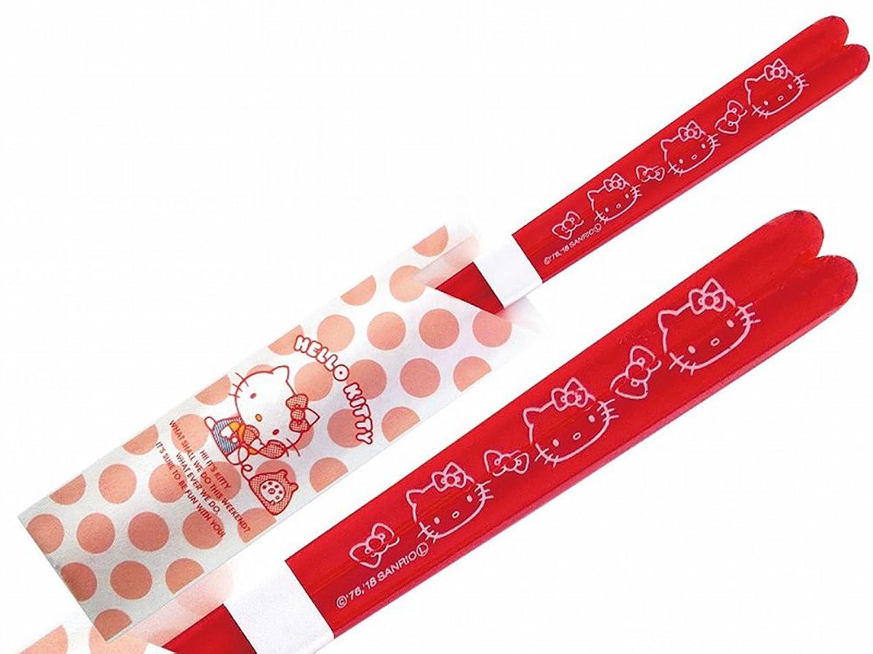 野菜どうやって迫害サンリオ(SANRIO) 「 Hello Kitty(ハローキティ) 」 キティ リボン クリア 箸 レッド 490560