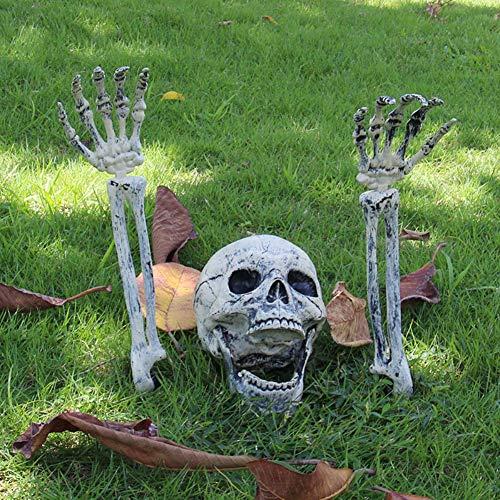 Forart Bag of Skeleton Bones and Skull for Spookiest Halloween Decoration