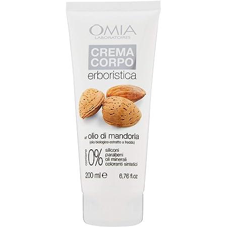 Omia Crema Corpo Erboristica con Olio di Mandorla, Pelle Delicata e Sensibile, 200 ml