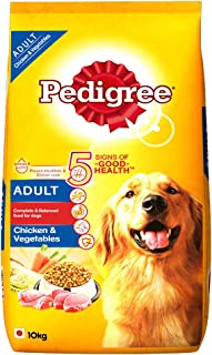 Pedigree Adult Dry Dog Food, Chicken & Vegetables, 10kg Pack