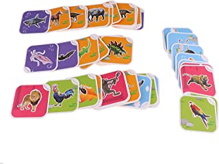MagiDeal AR 4D Flashcards Fancy Zoo Magic Animal Educational Game 68Pcs /Set for Kids