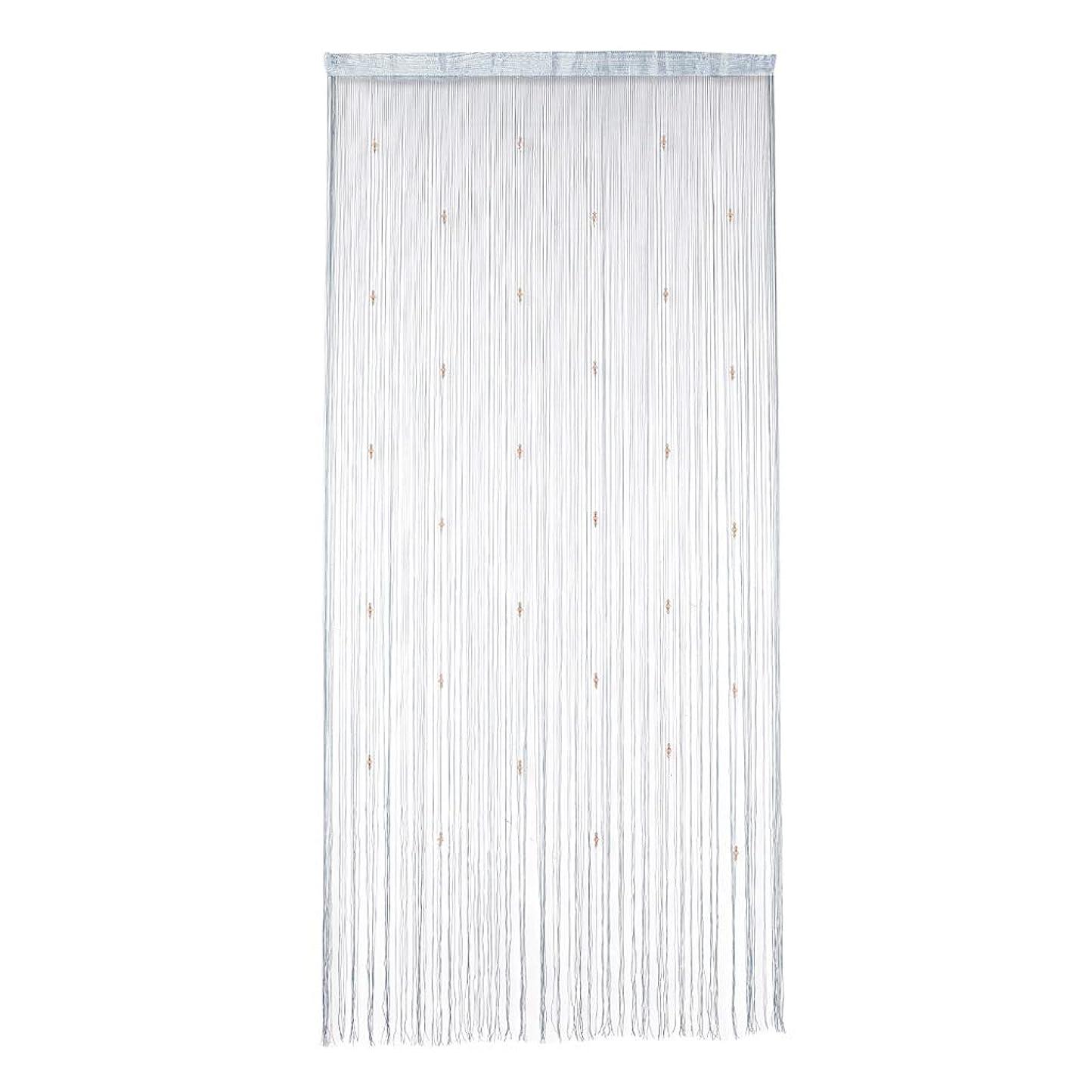とにかく応用平衡amleso コードスクリーン ひものれん ストリングカーテン 間仕切り 100×200cm 通気性 全17色 - グレー