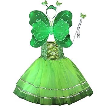 Hada Disfraz - alas de Mariposa niña por 3-8 años - alas de la ...