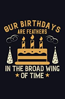Our Birthdays Are Feathers In The Broad Wing Of Time: Happy Birthday-Bible Study Journal: A Creative Christian Workbook: A...