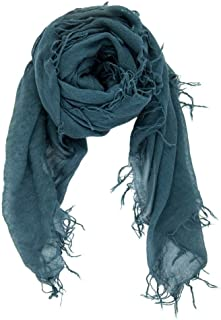 Chan LUU NEW Deep Teal Beautiful Cashmere & Silk Soft Scarf Shawl Wrap