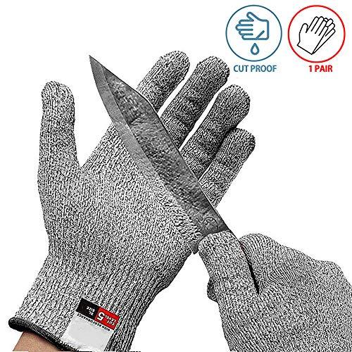 Snijbestendige handschoenen levensmiddelenklasse 5 bescherming werk veiligheid handschoenen klein formaat voor 8-12 jaar oude kinderen Oester Shucking vis Fillet verwerking Mandolin snijden en houtsnijwerk 1 paar