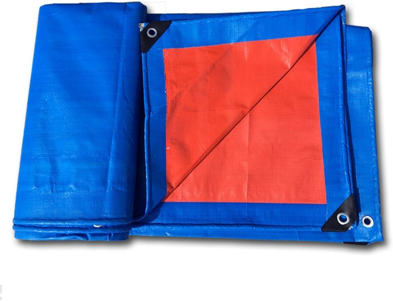 LQQGXL Thick Canvas Waterproof rain Cloth, Warehouse Goods dust shed Cloth Truck Tarpaulin wearResistant, blueee Waterproof Tarpaulin