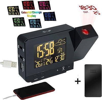 Reloj Despertador de proyección controlado por Radio atómico con ...