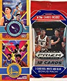 2020-21 Panini PRIZM Draft Picks Basketball JUMBO FAT CELLO Pack with 15 Cards including (3) EXCLUSIVE Red, White & Blue PARALLELS! Look for RC & Autos of LaMelo Ball, James Wiseman & More! AND a Custom Rookie Card of LaMELO BALL and JAMES WISEMAN.