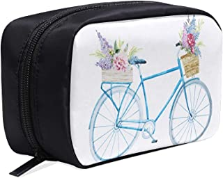 Hand-painted Bicycle Portable Travel Makeup Cosmetic Bags Organizer Multifunction Case Small Toiletry Bags For Women And Men Brushes Case