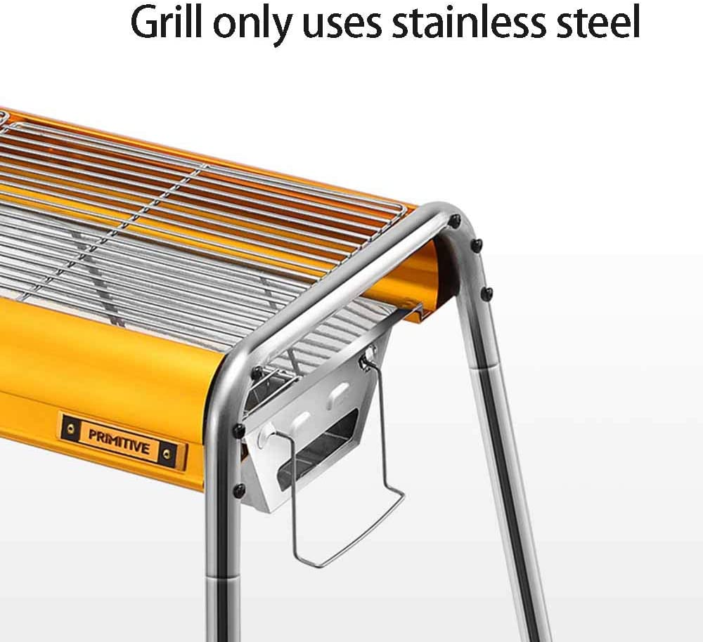 Barbecue Grill, Barbecue Portable, Outil De Barbecue Pliable, Rotation Réglable, pour 3-5 Personnes, pour Table Camping Outdoor Garden Grill BBQ,1 3
