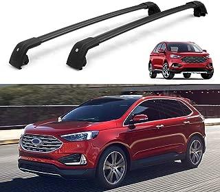 MotorFansClub Roof Rack Cross Bars for Ford Edge 2016 2017 2018 Crossbars Lockable Luggage Cargo Carrier Rack Black