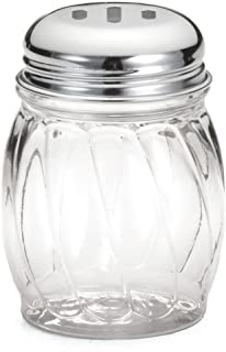Great Credentials Grated Cheese or Red Pepper Swirl Glass Shaker (Slotted Top)