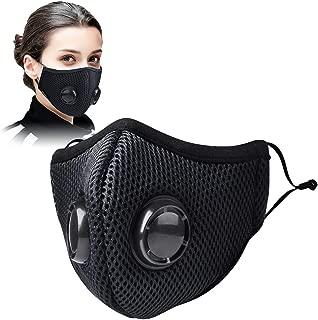 CCJK トレーニングマスク スポーツマスク 低酸素 バイクマスク 防風 防寒 マスク 運動 肺活量 ランニング 自転車用マスク 男女兼用 フィルター付き ブラック
