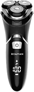 ROAMAN Electric Razor for Men,Rechargeable 3D Rotary Mens Electric Shaver Wet Dry IPX7 Waterproof...