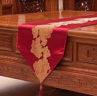 QQBYDT LYX® Bandera de Mesa Mesa de Estilo Chino Bandera de Madera roja Muebles Mesa de Centro Mesa de Comedor Aparador M...